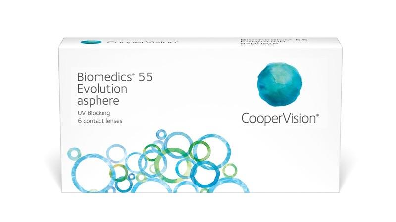 Biomedics 55 Evolution 6 tk +4,50 - tühjendusmüük