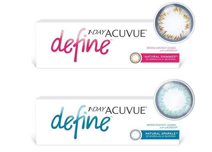1-Day Acuvue Define Natural Shimmer - tühjendusmüük!