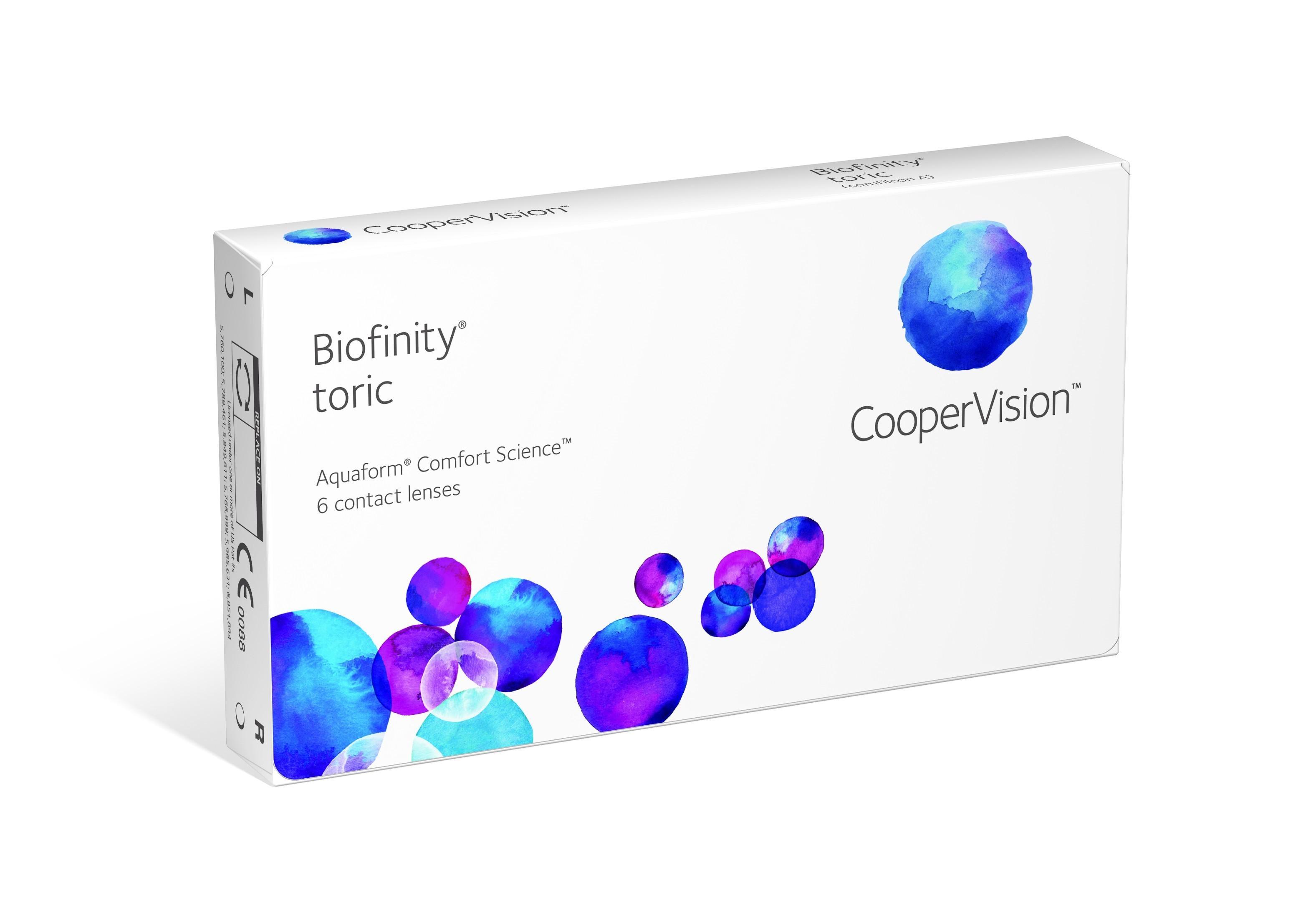 Biofinity Toric kuuajased toorilised läätsed