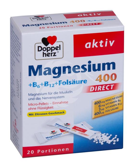 DoppelHerz Aktiv Mg 400+B6+B12 +foolhape direkt graanulid N20
