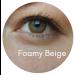 Foamy Beige läätsed hallikal silmal