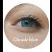 Cloudy Blue läätsed hallikal silmal